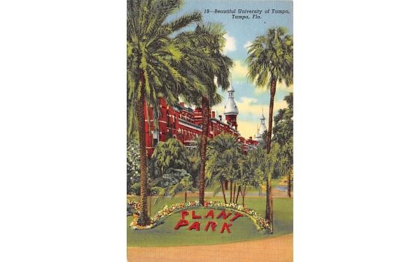 Beautiful University of Tampa Florida Postcard