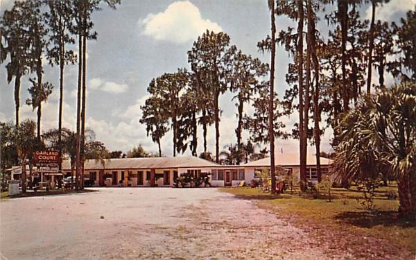 Garland Motor Court Tampa, Florida Postcard