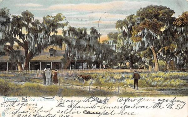 Old U. S. Garrison Tampa, Florida Postcard