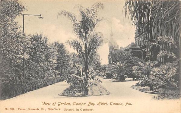 View of Garden, Tampa Bay Hotel Florida Postcard