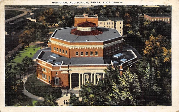 Municipal Auditorium Tampa, Florida Postcard
