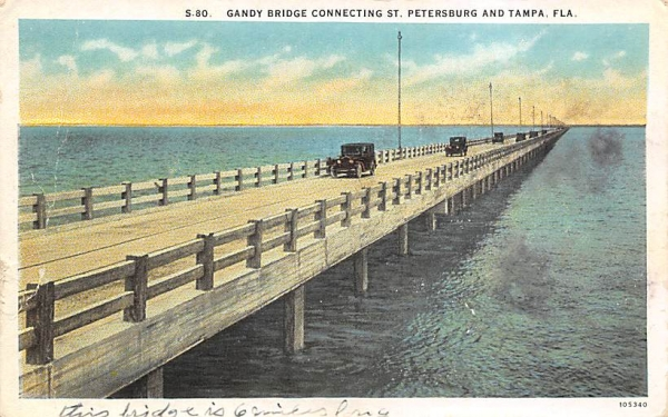 Gandy Bridge St. Petersburg and Tampa, FL, USA Florida Postcard