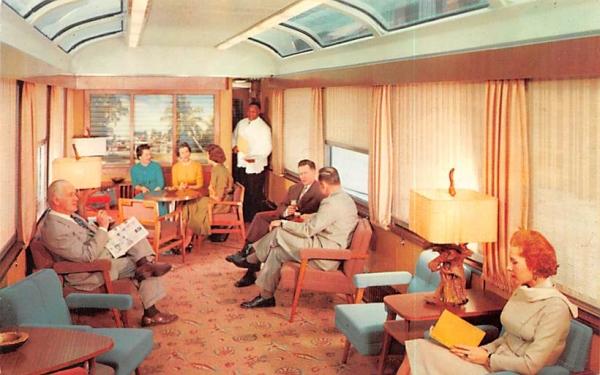 The Sun Lounge Trains, Florida Postcard