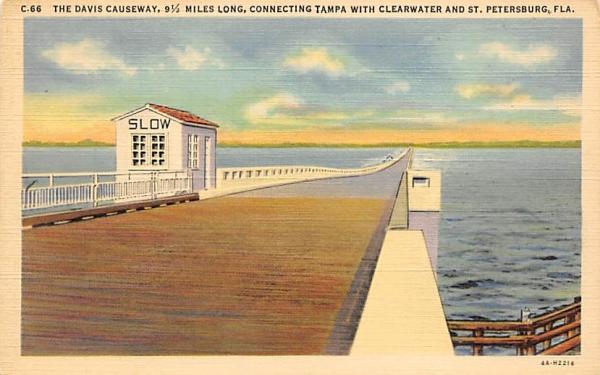 Davis Causeway, Connect, Tampa, Clearwater, St Pertersburg Florida Postcard