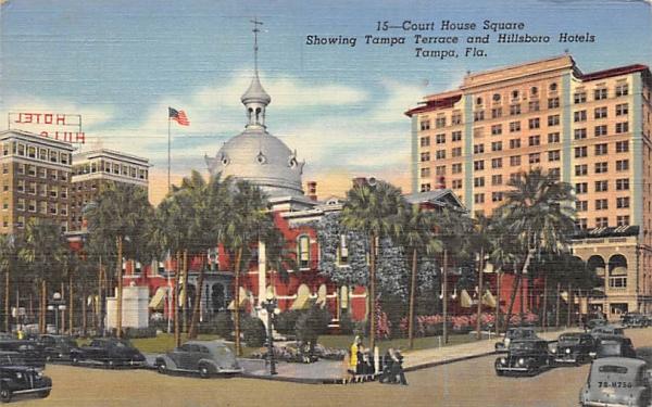 Court House Square Tampa, Florida Postcard