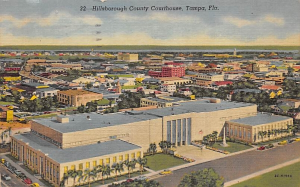 Hillsborough County Courthouse Tampa, Florida Postcard