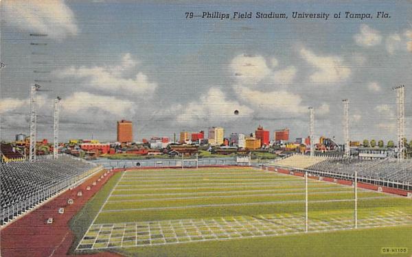 Phillips Field Stadium, University of Tampa, USA Florida Postcard