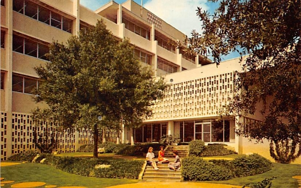 Library Patio, University of South Florida, USA Postcard
