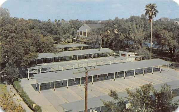 Shuffleboard courts maintained, Recreation Department  Tampa, Florida Postcard