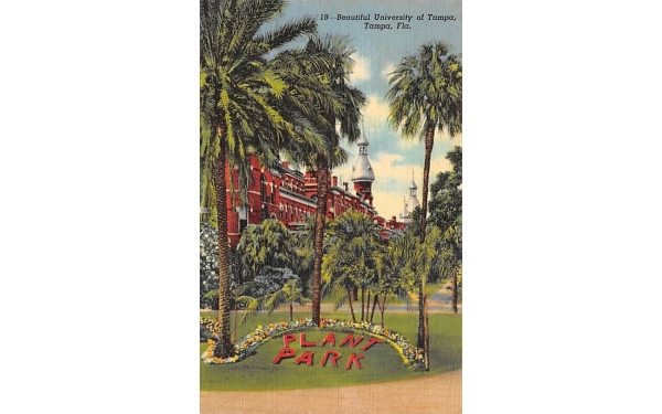 Beautiful University of Tampa, FL, USA Florida Postcard