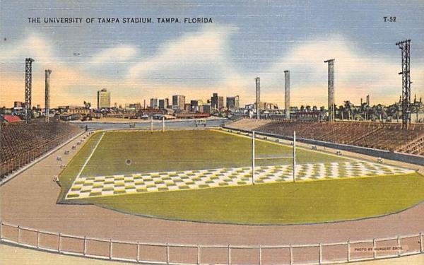 The University of Tampa Stadium, FL, USA Florida Postcard
