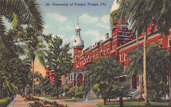 University of Tampa, FL, USA Florida Postcard
