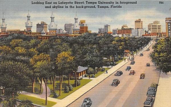 Looking East on Lafayette Street Tampa, Florida Postcard