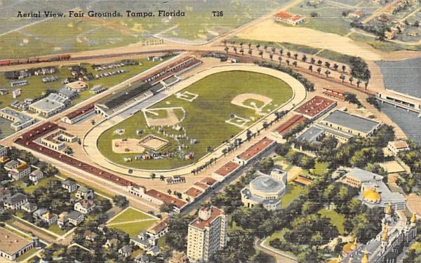 Aerial View, Fair Grounds Tampa, Florida Postcard