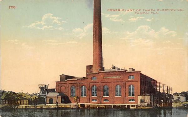 Power Plant of Tamap Electric CO. Tampa, Florida Postcard