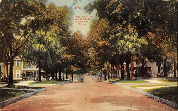 Seventh Avenue Tampa, Florida Postcard