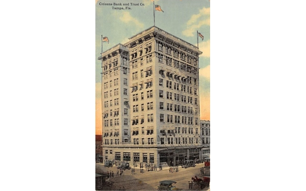 Citizens Bank and Trust Co. Tampa, Florida Postcard