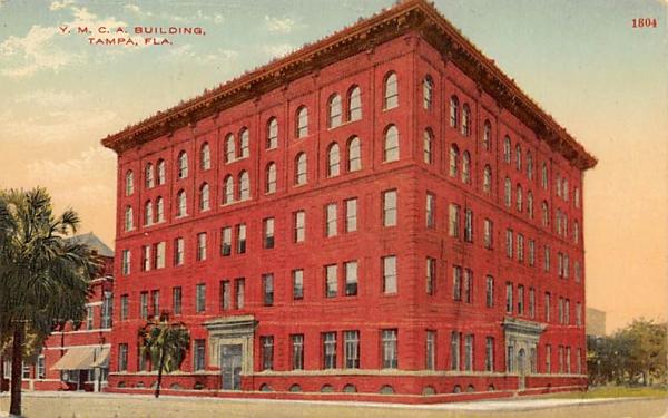 Y.M.C.A. Bldg. Tampa, Florida Postcard
