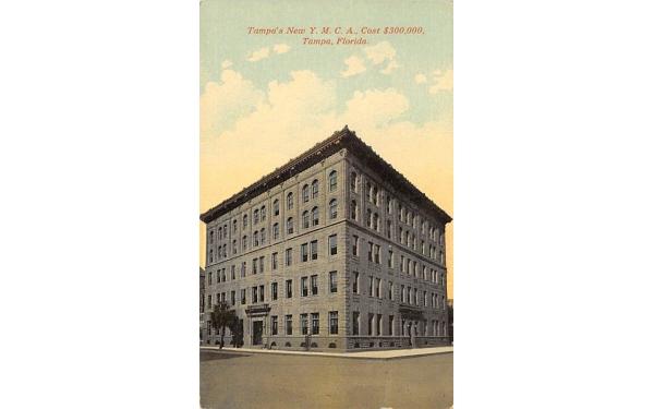 Tampa's New Y.M.C.A. Florida Postcard