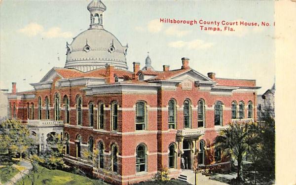 Hillsborough County Court House, No. 1 Tampa, Florida Postcard