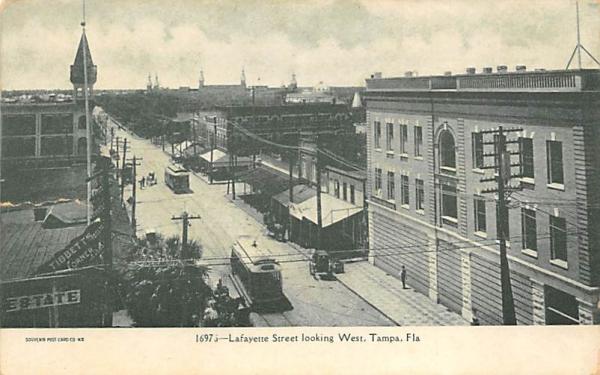 Lafayette Street looking West Tampa, Florida Postcard