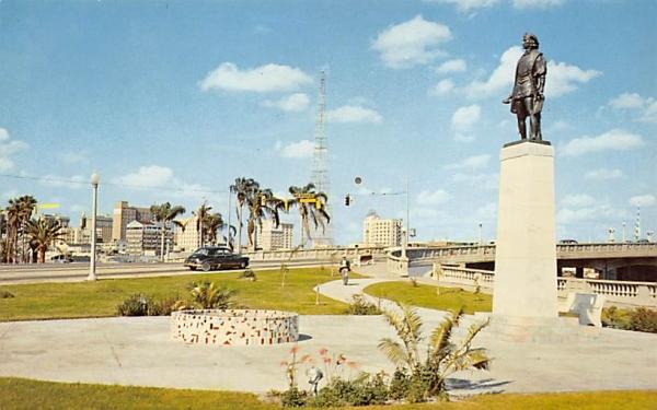 Columbus Monument with city's  Tampa, Florida Postcard