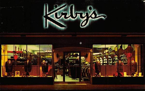 Kirby's Men Wear Tampa, Florida Postcard