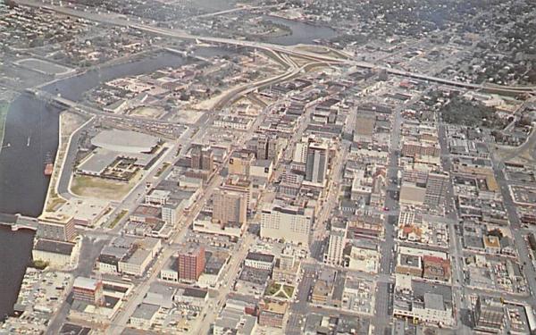 Airview of downtown Tampa, FL, USA Florida Postcard