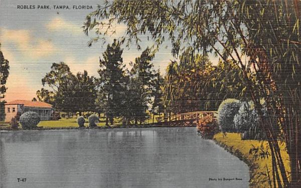 East Entrance to Bayshore Drive Tampa, Florida Postcard