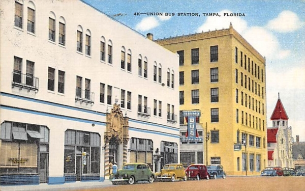 Union Bus Station Tampa, Florida Postcard