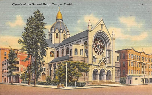 Church of the Sacred Heart Tampa, Florida Postcard
