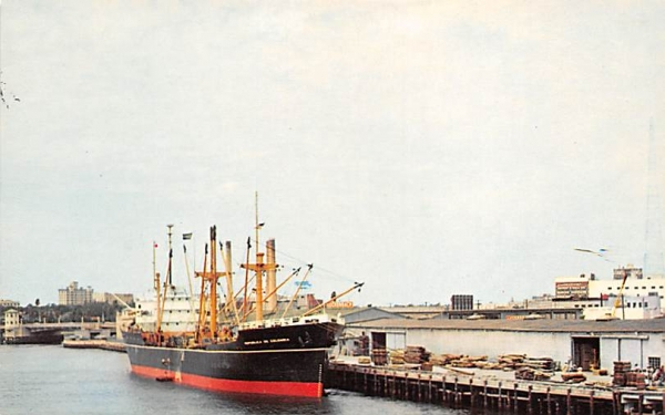 Tampa is a part of call for ships of all nations Florida Postcard