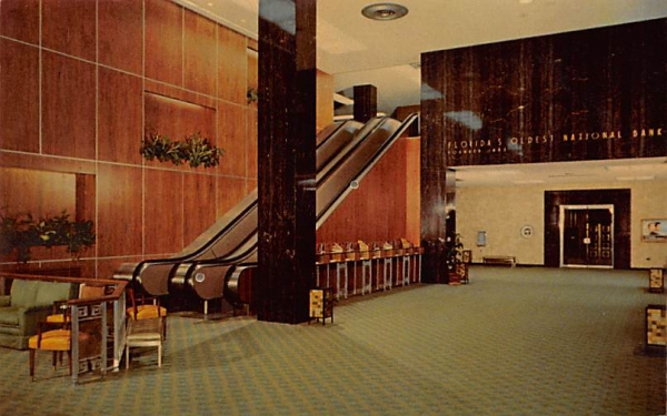 The First National Bank of Tampa Florida Postcard