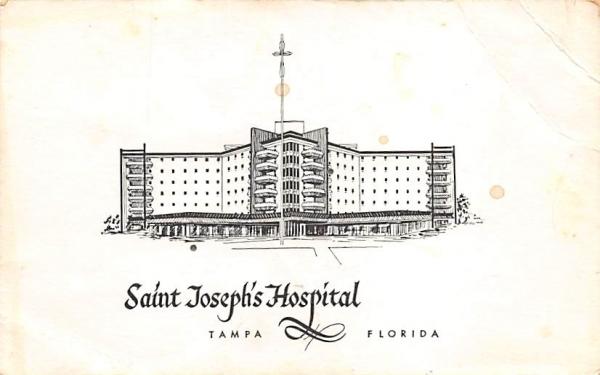 Saint Joseph's Hospital Tampa, Florida Postcard