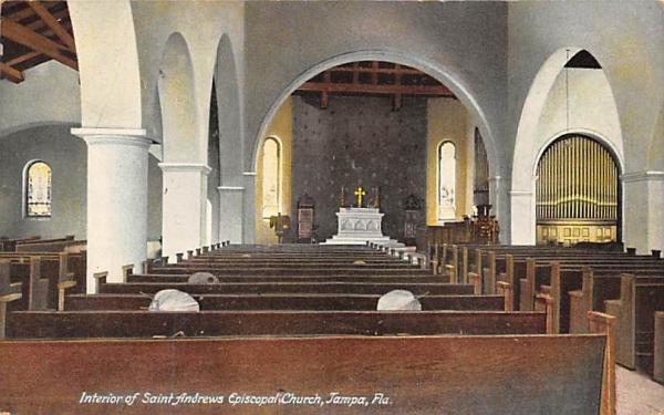 Interior of Saint Andrews Episcopal Church Tampa, Florida Postcard
