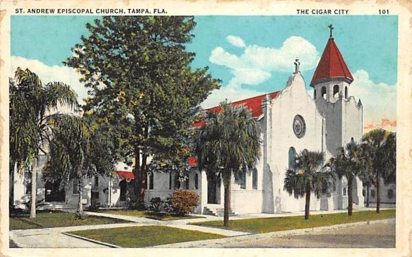 St. Andrews Episcopal Church Tampa, Florida Postcard