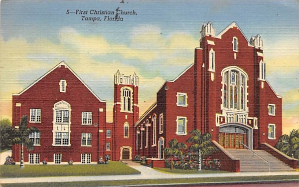 First Christian Church Tampa, Florida Postcard