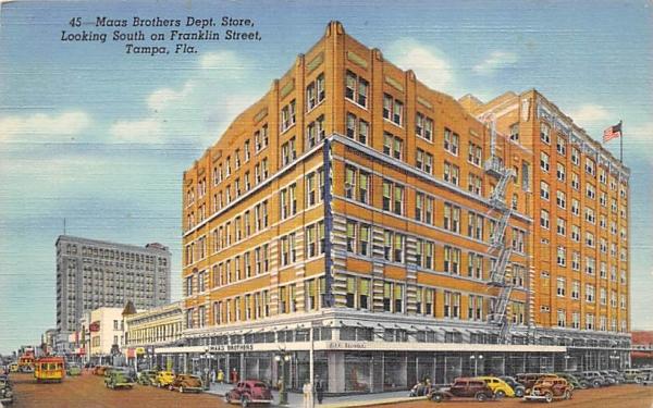 Maas Brothers Dept. Store Tampa, Florida Postcard