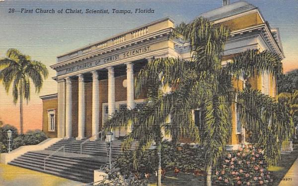 First Church of Christ Scientist Tampa, Florida Postcard