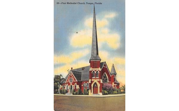 First Methodist Church Tampa, Florida Postcard