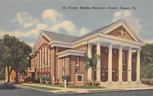 Tampa Heights Methodist Church Florida Postcard