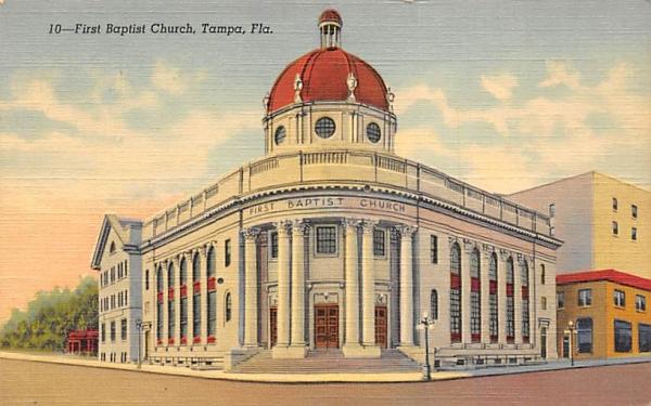 First Baptist Church Tampa, Florida Postcard