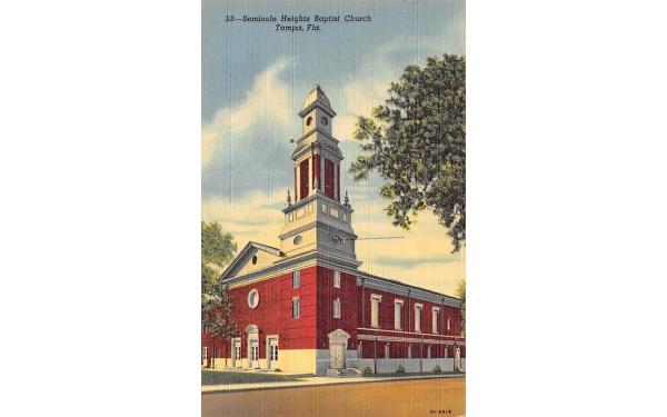 Seminole Heights Baptist Church Tampa, Florida Postcard