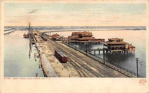 Port Tampa and Tampa Inn, FL, USA Florida Postcard