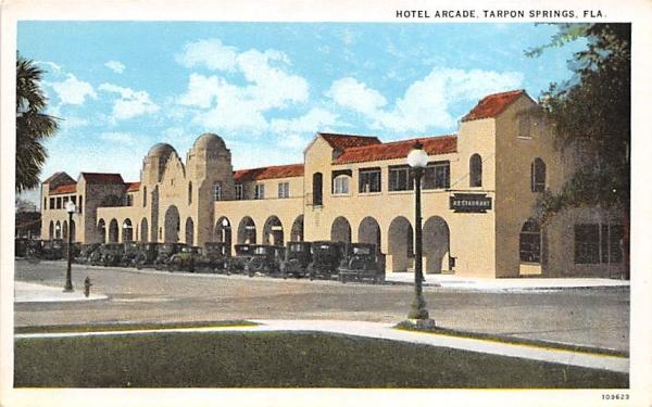 Hotel Arcade Tarpon Springs, Florida Postcard