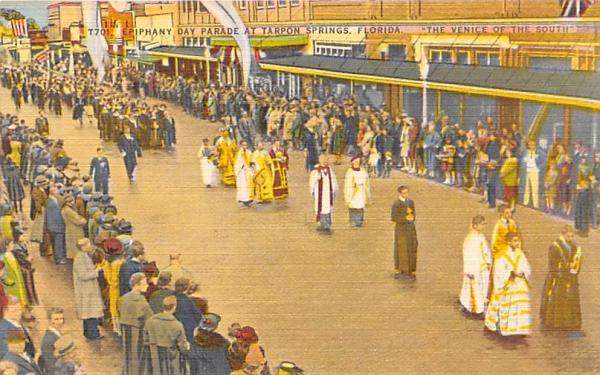 Epiphany Day Parade  Tarpon Springs, Florida Postcard