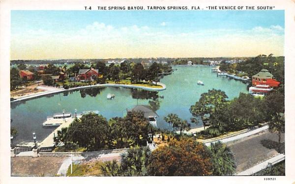 The Spring Bayou Tarpon Springs, Florida Postcard