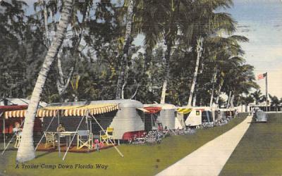 A Trailer Camp Down Florida Way, USA Postcard