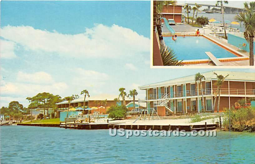 Edgewater Beach Motel & Apartments - Walton Beach, Florida FL Postcard