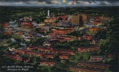 Georgia at Night - Athens Postcard